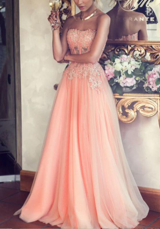 Rosa Spitze Bandeau reizvolles Brautjungfern kleid Elegant ...