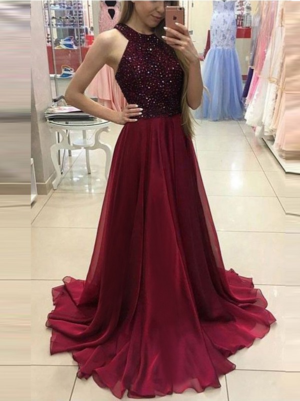 9359bd59de3f Wine Red Patchwork Sequin Backless Draped Halter Neck Sleeveless Elegant  Wedding Maxi Dress - Maxi Dresses - Dresses