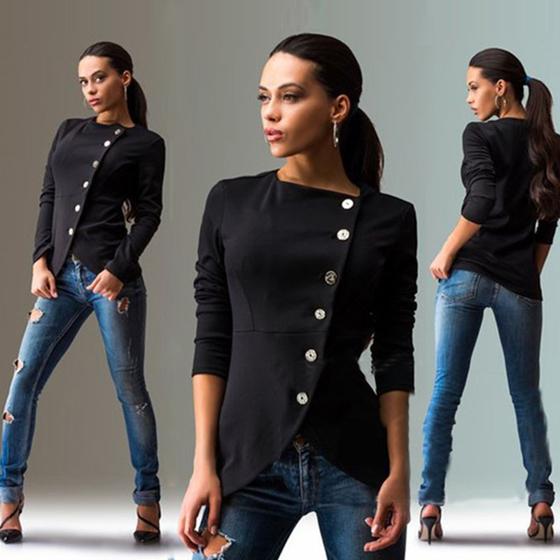 Long Sleeve Black T Shirt Womens