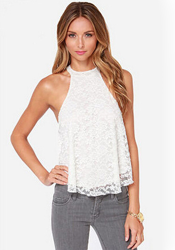 Sleeveless Blouses With Collar