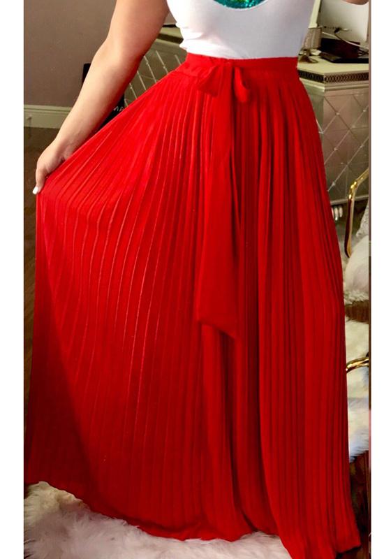 jupe longue pliss233 ceinture mousseline boho mode femme