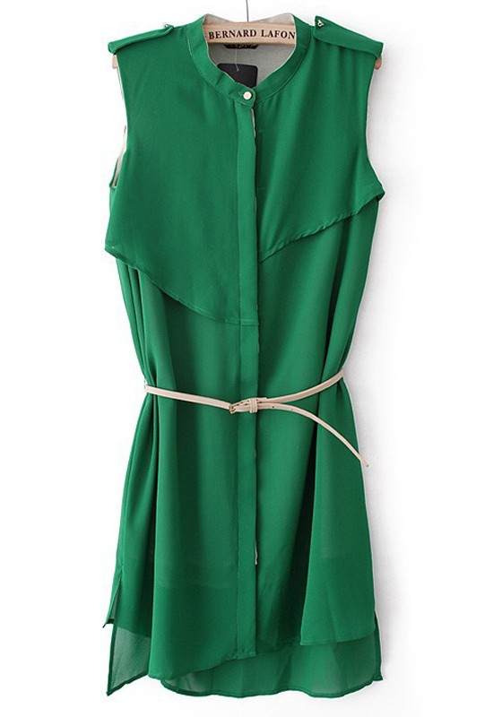 Green Collar Dress