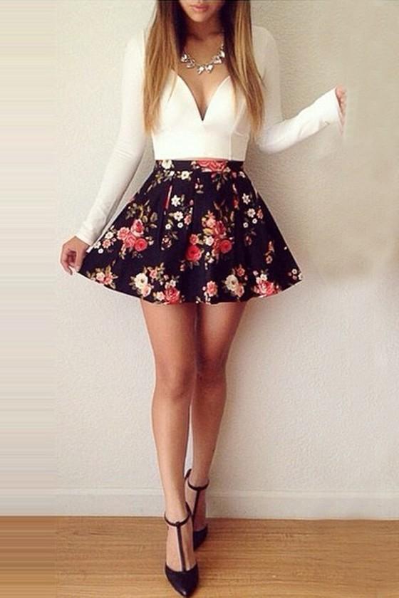 Cute long cut dresses