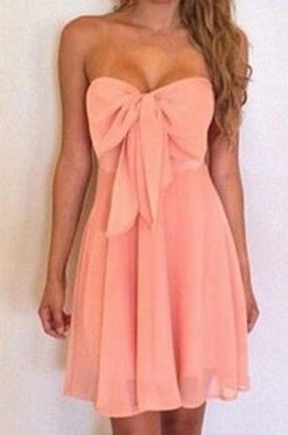 Rosa bandeau kleid
