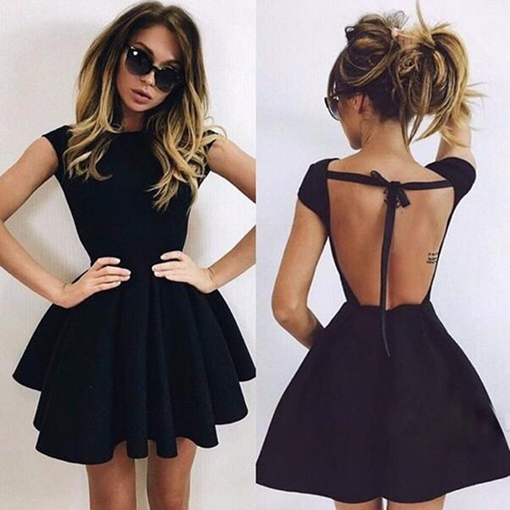 Mini Backless Dress