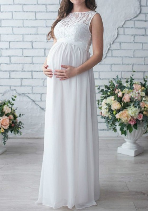 1. Peachy Pink Maternity Bardot Dress