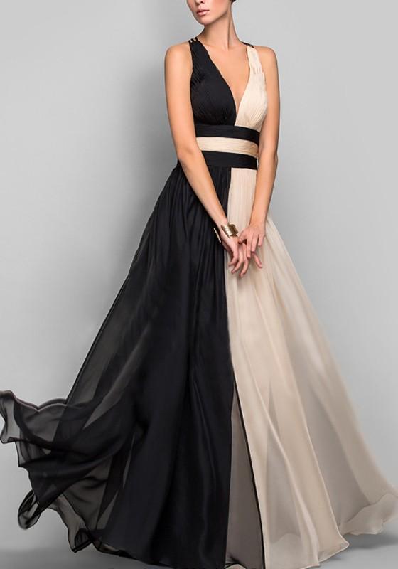 Vestido de gala en negro