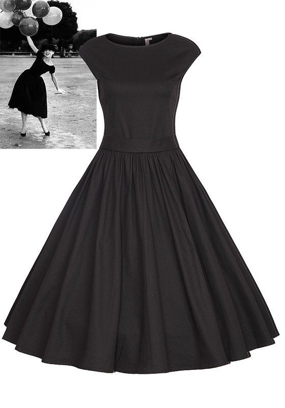 Robe patineuse courte, manches longues