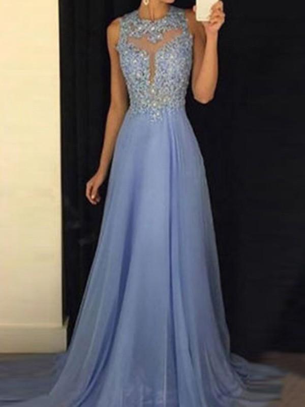 f10a64310 Vestido largo lentejuelas adina drapeado banquete sin respaldo elegante  fiesta de graduación azul cielo
