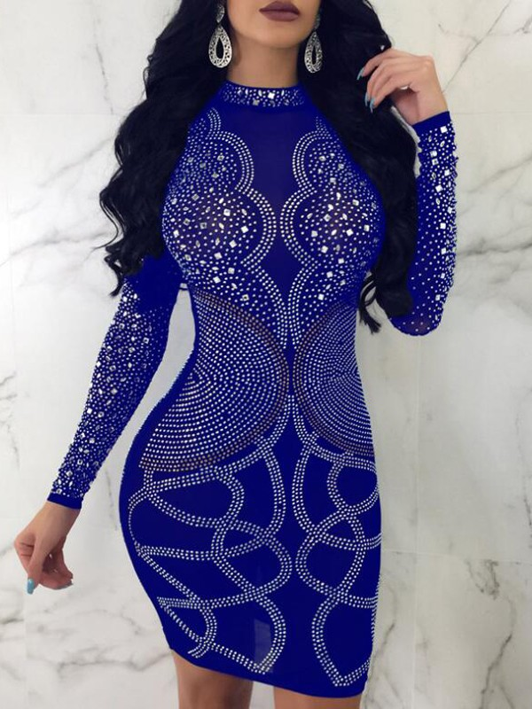 Blue and Silver Dresses