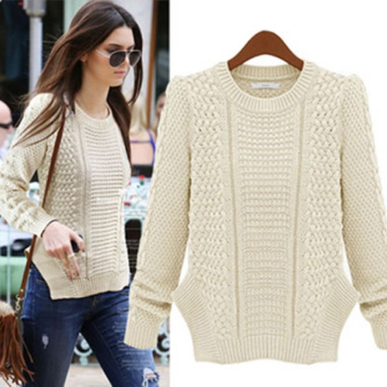 Long White Knit Sweater