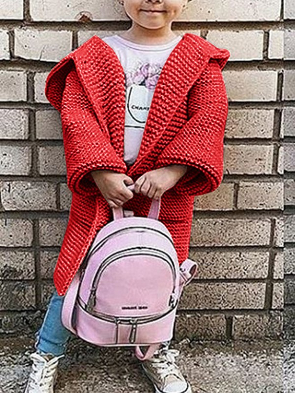 0c3c5fe3c Red Plain Pockets Going out Cute Cardigan Sweater - Cardigans ...