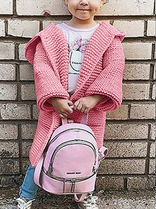 61c35b40c Pink Plain Pockets Going out Cute Cardigan Sweater - Cardigans ...