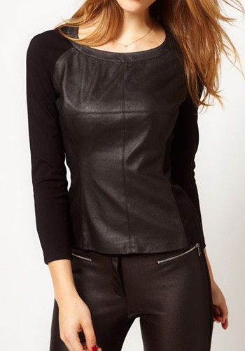 Shop eBay for great deals on Women's Faux Leather Long Sleeve Sleeve shirts Tops & Blouses. You'll find new or used products in Women's Faux Leather Long Sleeve Sleeve shirts Tops & Blouses on eBay. Free shipping on selected items. Would look great with an orange or black. Cutout Faux Leather Shirt. length from top of shoulder 24