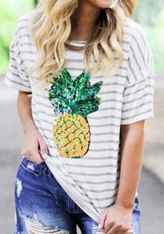 Image result for photos of tops with pineapple print