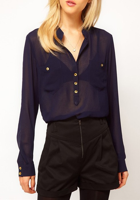 Find navy blue chiffon tops top at ShopStyle. Shop the latest collection of navy blue chiffon tops top from the most popular stores - all in one.