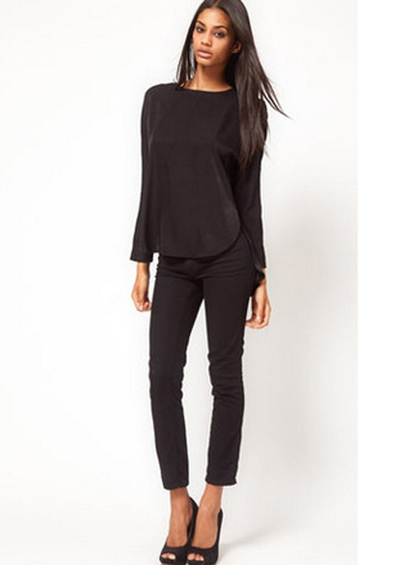 Find plain black tops women at ShopStyle. Shop the latest collection of plain black tops women from the most popular stores - all in one place.