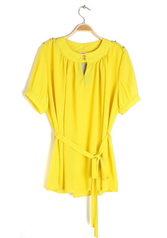 Yellow Fashion Blouse 77