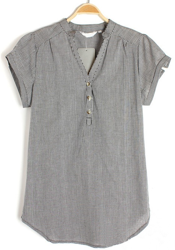 Women'S Short Sleeve Chiffon Blouse 82