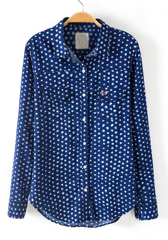 Dress Up Dreams Boutique Girls Navy White Polka Dot Scoop Neck Collar Satin Sash Cotton Dress 12M COOGI Luxe % Cotton Men's White/Red/Blue Polka Dots Dress Shirt.