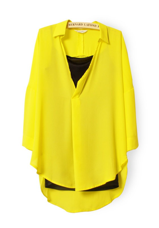 Long Sleeve Yellow Blouse 39
