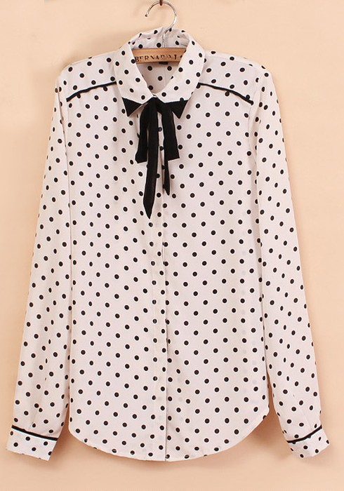 Long Sleeve Blouse With Bow Long Sleeve Chiffon Blouse