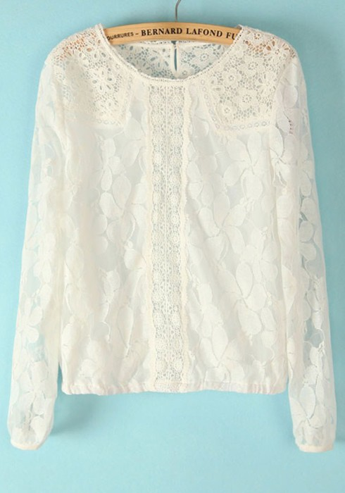 White Blouse With Lace