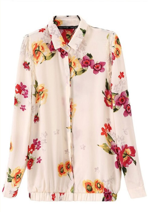 Buy Split Neck Floral Long Sleeve Chiffon Blouse online with cheap prices and discover fashion Blouses at truexfilepv.cf