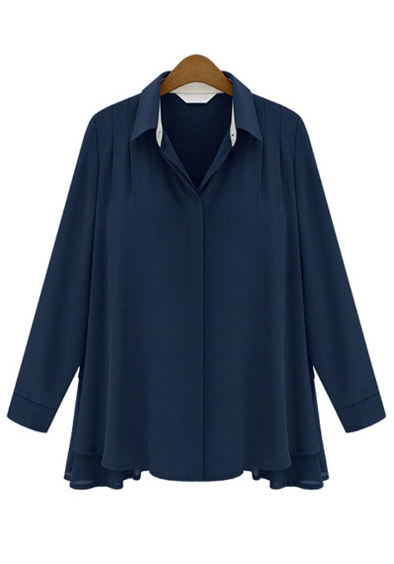 Navy Blouse Tops 72