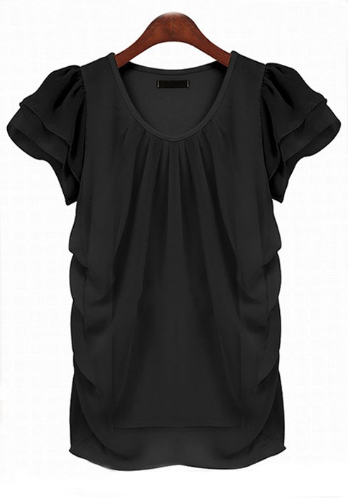 The Lulus Simply Sophisticated Black Top is just what you need to get through your busy week! This chic, woven blouse has a rounded neckline, accented with a keyhole cutout, and short sleeves.