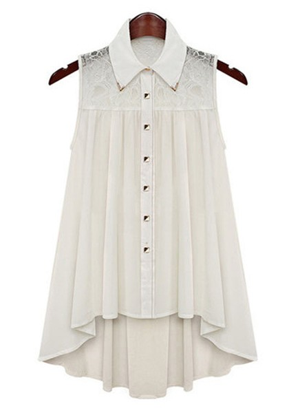 white-ruffle-lapel-sleeveless-loose-lace