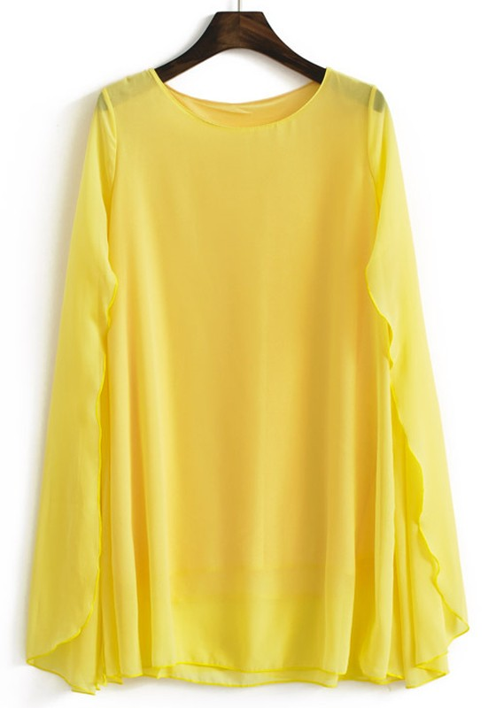 Long Sleeve Yellow Blouse 40
