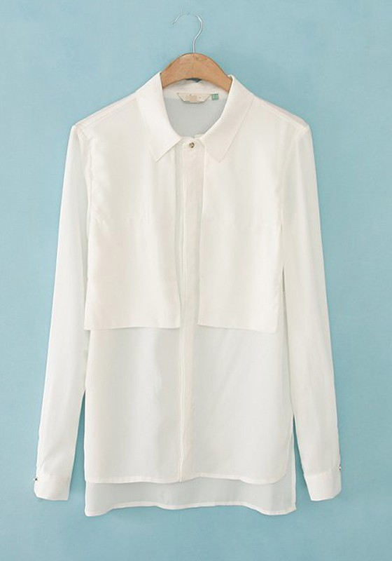 Cheap plain white blouse collar blouses Cheap plain white shirts