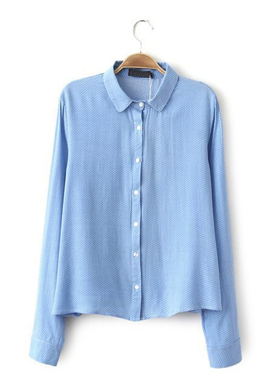 Images of Light Blue Blouse - Reikian