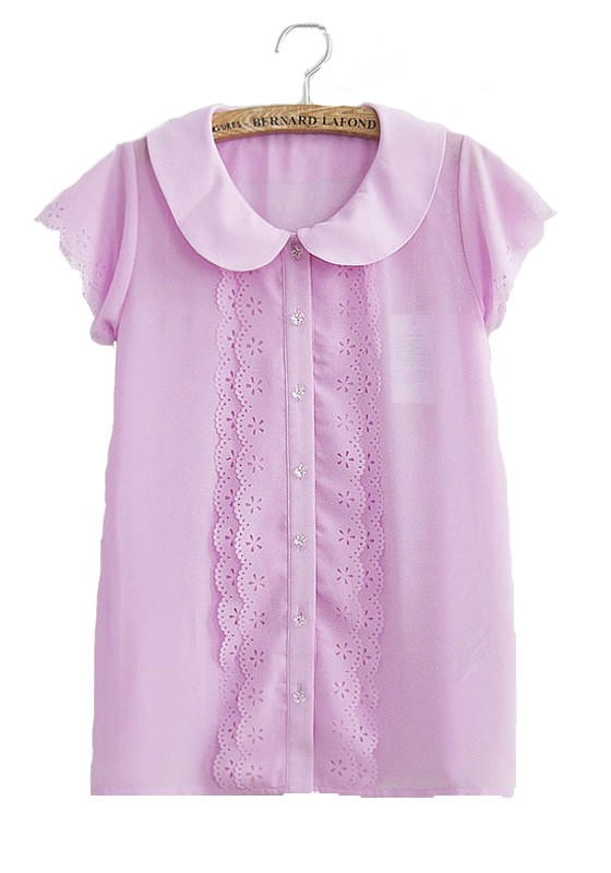 buy cheap Fashion Style Short Sleeve, Peter Pan Collar Blouses & Shirts online with wide selections and unqiue desgin, Quality unique Short Sleeve, Peter Pan Collar Blouses & Shirts .