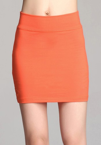 Orange Mini Skirt 36