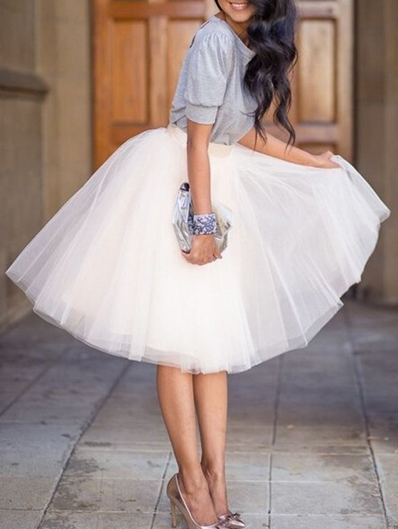 33d5259853 Pink Grenadine Pleated High Waisted Tulle Tutu Homecoming Party Cute  Elegant Midi Skirt. Price   25.38. White Puffy Tulle Skirt Tutu Skirt