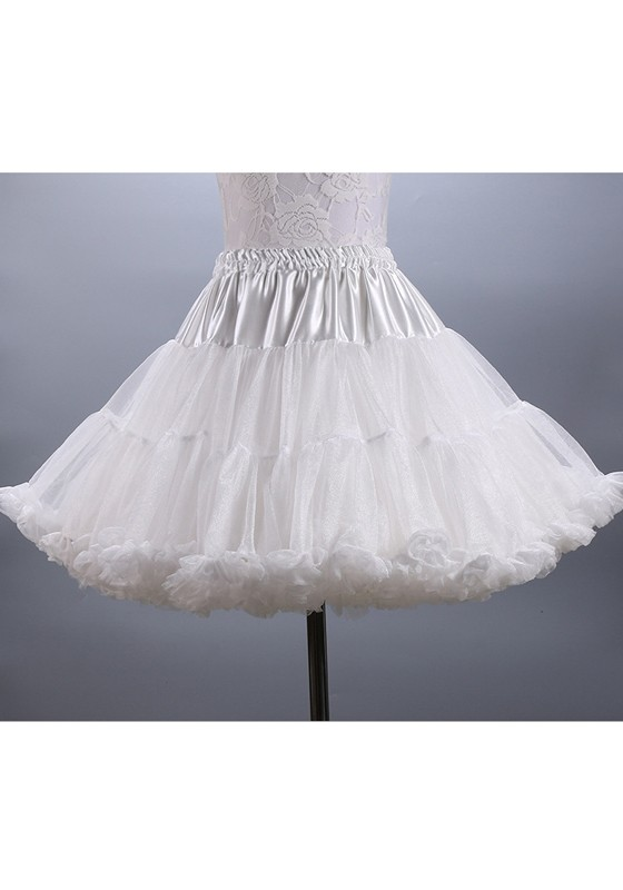 3b7750a3c White Grenadine Sashes Pleated Bow Fluffy Puffy Tulle Sweet Skirt - Skirts  - Bottoms