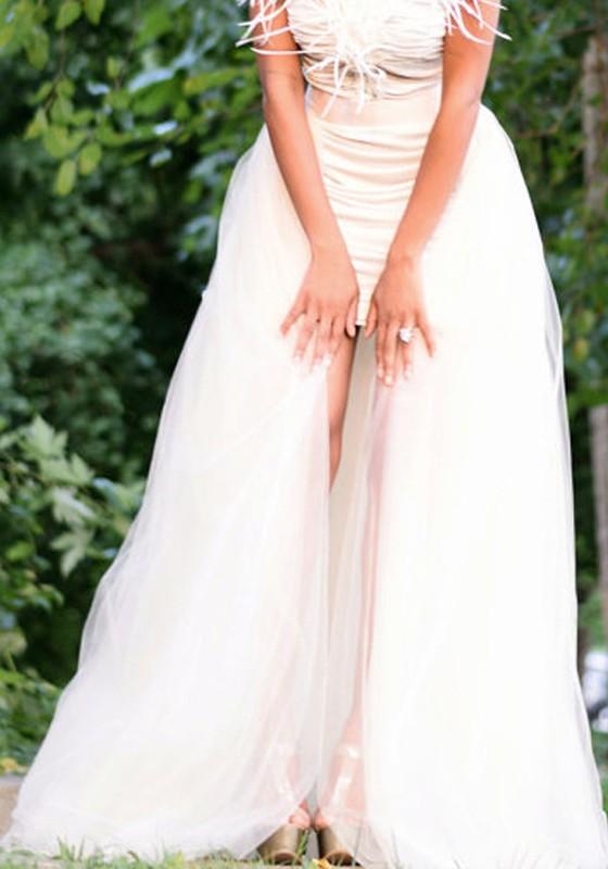 site réputé b4979 2f6ca Jupe longue swallowtail taille haute tutu tulle mode de soirée pour mariage  blanche