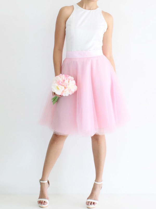 9909dd37c95120 Pink Grenadine Pleated Adorable Tutu High Waisted Elegant Going out Tulle  Skirt - Skirts - Bottoms
