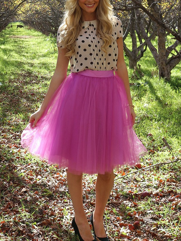 2ac1af52b Pink Grenadine Fluffy Puffy Tulle Tutu High Waisted Homecoming Party Skirt  - Skirts - Bottoms
