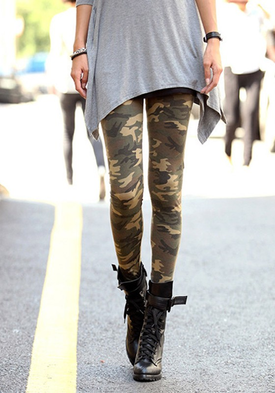 armee gr n camouflage camo tarnmuster sport tights. Black Bedroom Furniture Sets. Home Design Ideas
