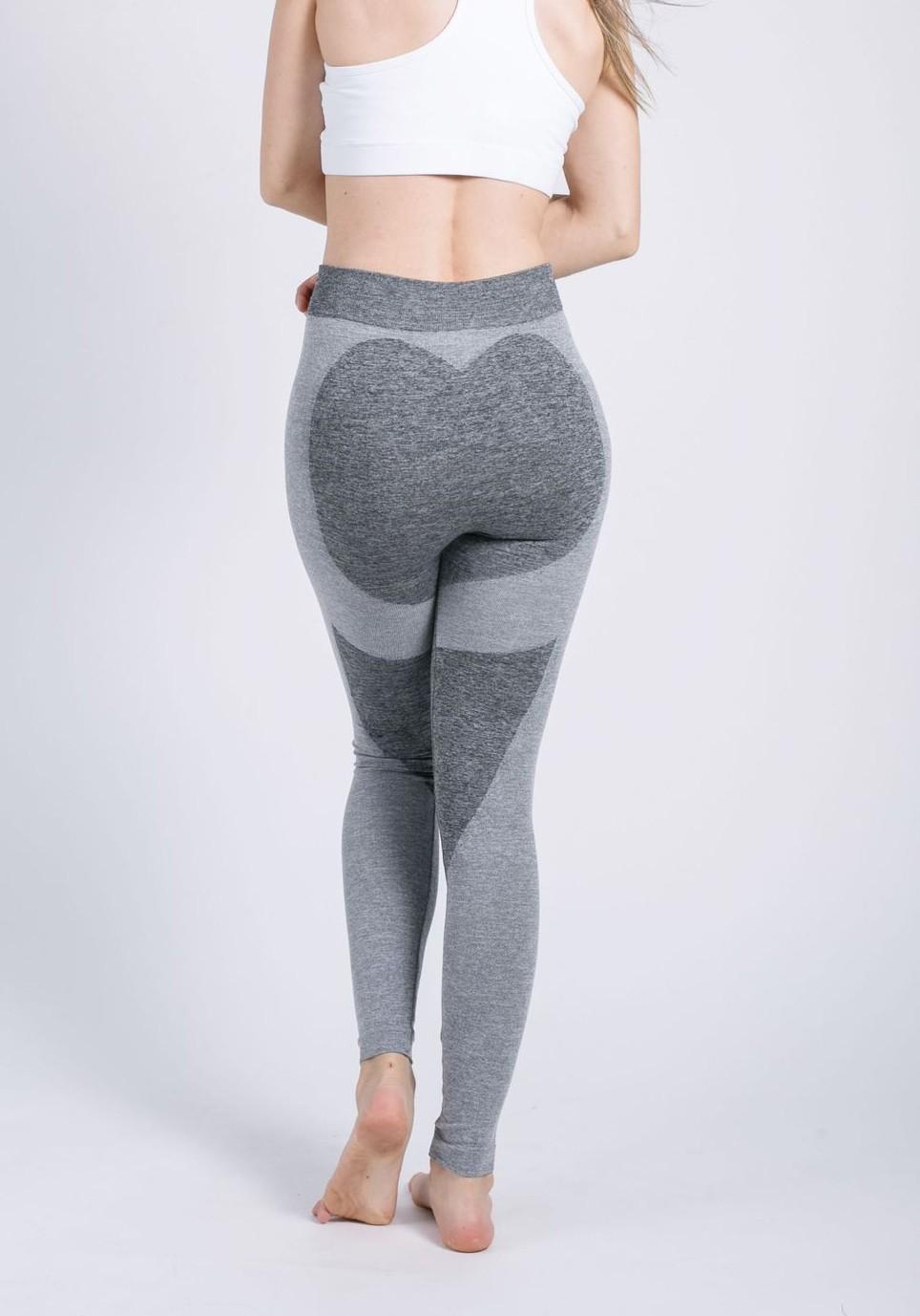 5d211f0ef4e64d Light Grey Heat Butt Print High Waisted Sports Yoga Workout Long Legging -  Leggings - Bottoms
