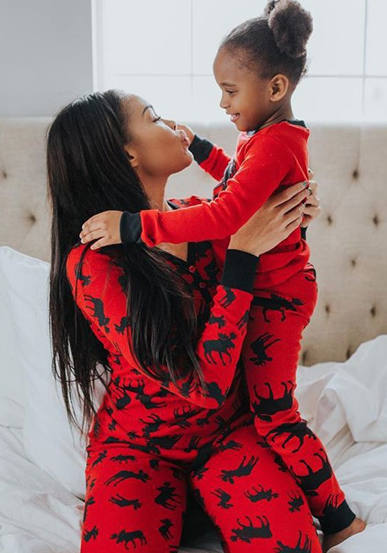 red floral 2 in 1 high waisted cute christmas pajamas long jumpsuit