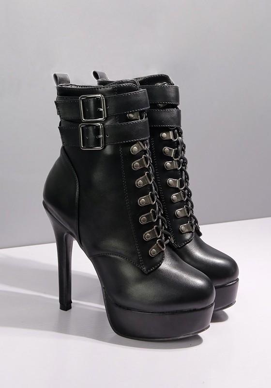 Chaussures automne à bout rond à fermeture éclair marron Casual femme MfyYR2Hk