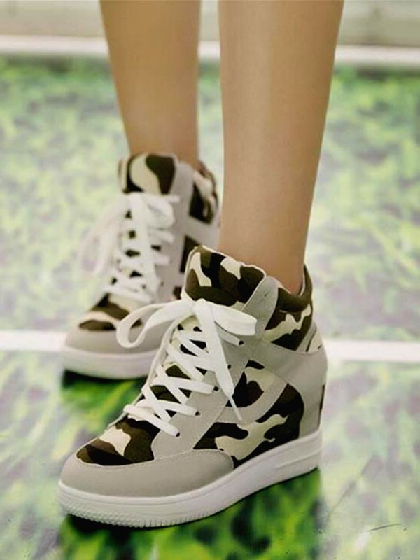 camouflage round toe flat cross strap fashion shoes flats shoes