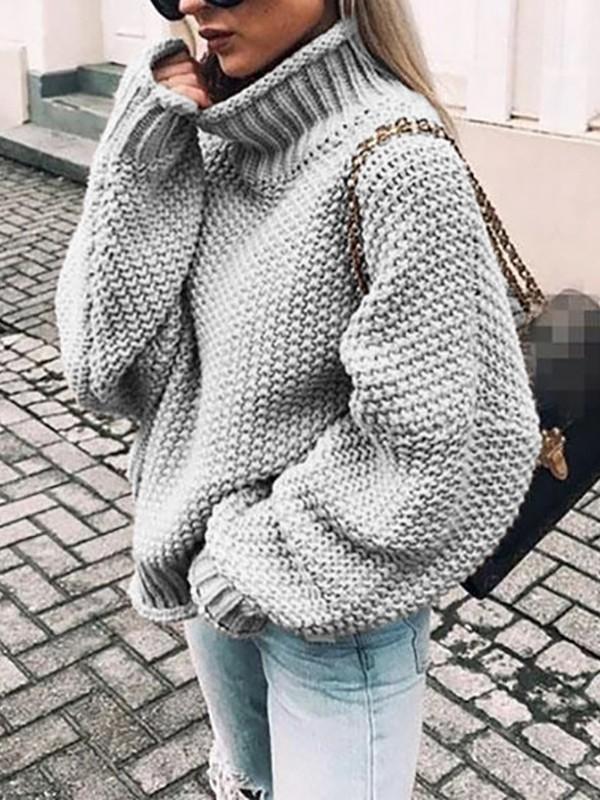 damen pullover oversize grau