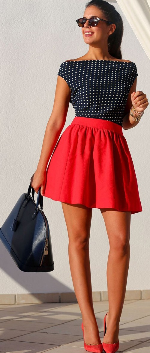 Red Above Knee Dress