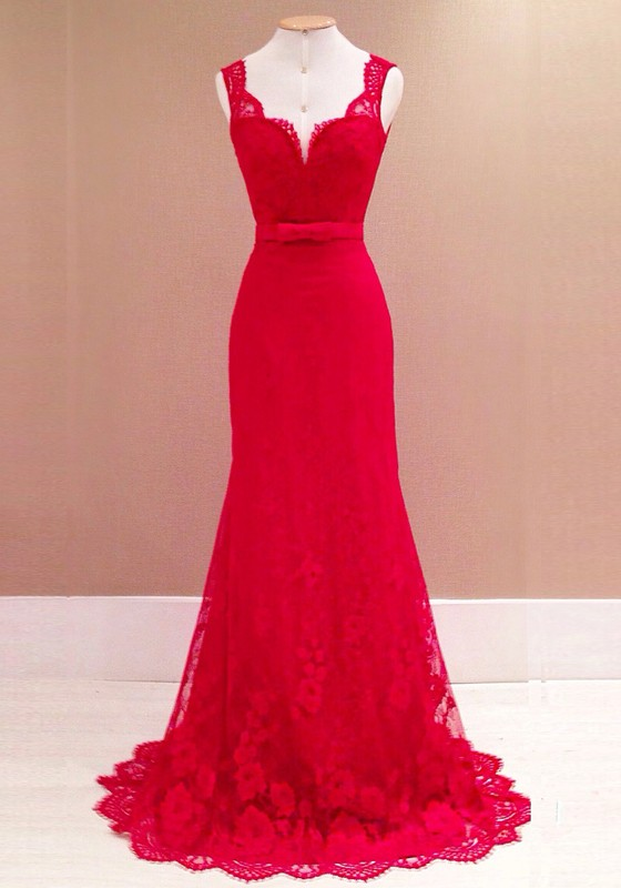 Robe cocktail rouge mariage
