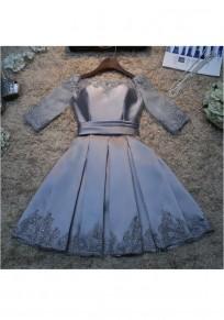 Mini abito cerniera pieghettata in chiusura lampo grigio